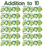 Adición al cartel 10 Stock de ilustración