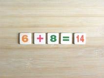 Adición de dos números foto de archivo libre de regalías