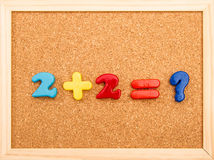 Adición de la matemáticas Foto de archivo