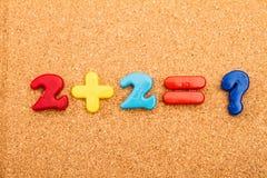 Adición de la matemáticas Imagenes de archivo