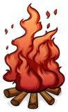 Adición del combustible a la frase hecha del fuego Imagenes de archivo