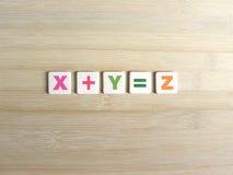 Adición en álgebra imágenes de archivo libres de regalías