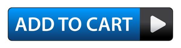 Adicione à tecla do carro ilustração do vetor