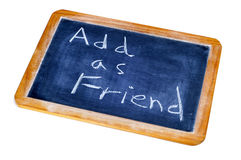 Adicione como o amigo Imagem de Stock