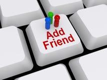 Adicione a mensagem do amigo  Fotos de Stock