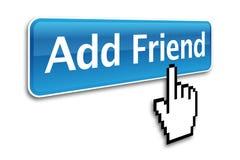 Adicione o ícone do amigo Fotos de Stock Royalty Free