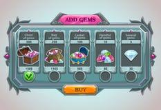 Adicione o painel das gemas ilustração royalty free