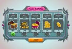 Adicione o painel das moedas ilustração do vetor