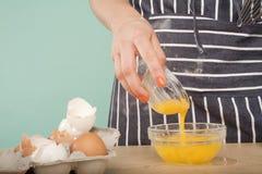 Adicione o yolk imagem de stock royalty free