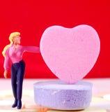 Adicione sua mensagem ao coração dos doces Fotos de Stock Royalty Free