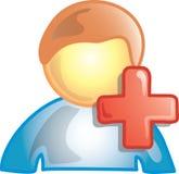 Adicione um ícone da pessoa ilustração stock