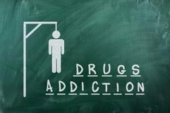 Adiction van drugs stock fotografie