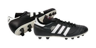 adidas橄榄球鞋子 库存图片