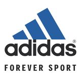 Adidas logo sports commercial. Adidas AG is a multinational corporation, founded and headquartered in Herzogenaurach, Germany, that designs and manufactures vector illustration