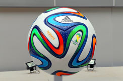 Adidas brazuca world cup 2014 football Stock Photo