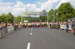 Adidas-Energielauf vor dem Anfang Lizenzfreie Stockfotos
