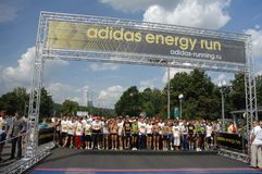 Adidas energy run start Royalty Free Stock Photography
