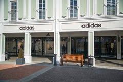 Adidas entreposé dans Parndorf, Autriche photographie stock