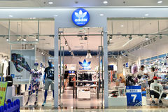 Adidas fashion shop Royalty Free Stock Photography