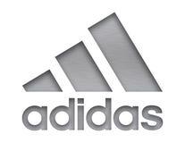 Adidas-Firmenzeichen Lizenzfreie Stockfotos