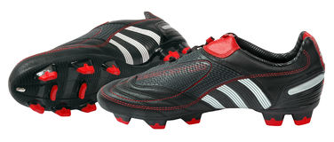 Adidas football boots Royalty Free Stock Photos
