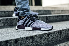 Adidas Gray Black Low Top Sneakers Stock Photography