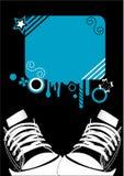 Adidas grunge Hintergrund Stockbild