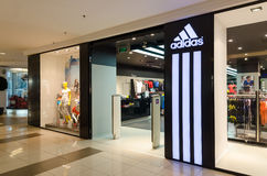 Adidas lager Arkivfoto