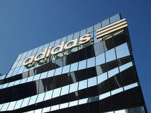 Adidas largest flagship store Stock Images