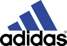 Adidas logo sports commercial. Adidas AG is a multinational corporation, founded and headquartered in Herzogenaurach, Germany, that designs and manufactures stock illustration