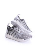 Adidas NMD R1 Primeknit Oreo White Black Glitch Camo