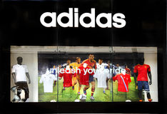 Adidas retail sports store Stock Photography