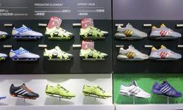 Adidas-Schuhshop Lizenzfreie Stockfotografie