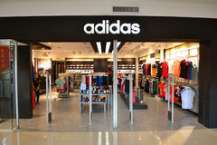Adidas shop Stock Photography