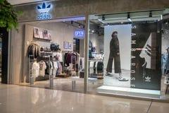 Adidas shoppar på mega Bangna, Bangkok, Thailand, Juni 2, 2018 Royaltyfria Bilder