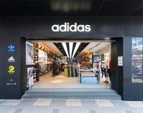 Adidas speichern in Hong Kong Stockbild