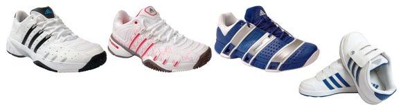 Adidas sport Schuhe Stockfotografie