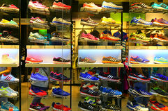Adidas sports shoes Stock Photos