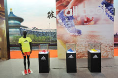 Adidas stand, adidas is all in Stock Photo