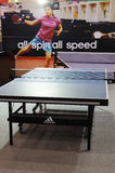 Adidas stand,  all spin all speed Stock Image