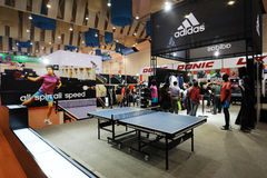 Adidas stand,  all spin all speed. The 28th China International Sporting Goods Show 2011,Chengdu Royalty Free Stock Photography
