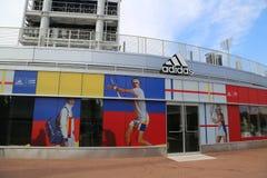 Adidas stellt neue Tennissammlung durch Pharrell Williams während US Open 2017 vor Lizenzfreies Stockbild