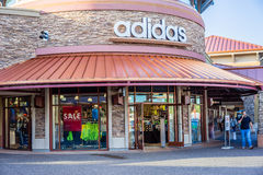 Adidas store entrance Royalty Free Stock Photography