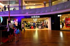 Adidas Store at Orchard Ion Stock Images