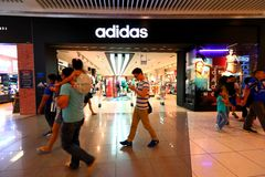 Adidas Store at Orchard Ion Royalty Free Stock Photos