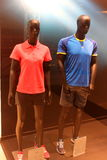 Adidas summer sports equipment. At store in Plaza mall,Romania Royalty Free Stock Image