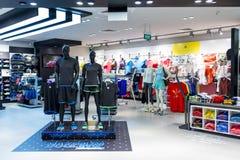 Adidas tragen Butike zur Schau Lizenzfreies Stockfoto