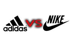 Adidas VS Nike Royalty Free Stock Photography