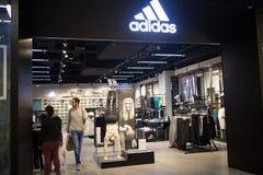 Adidas-winkel in Centraal MAI van Festivalchiang Stock Afbeeldingen
