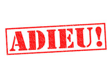 ADIEU! Imagens de Stock Royalty Free